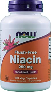 Now Foods Flush-Free Niacin 250 mg, 180 Vcaps