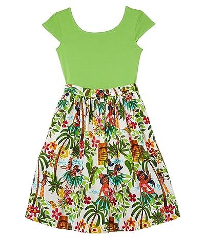 fiveloaves twofish Maddy Hula Girl Dress (Toddler/Little Kids/Big Kids) (Lime) Girl