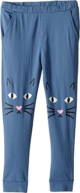 Jersey Meow Knees Sweatpants (Toddler/Little Kids)