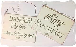 Cartelli e targhe matrimonio per paggetti e damigelle