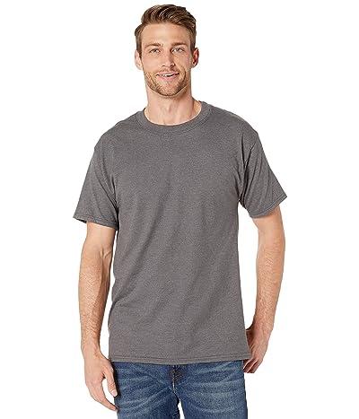 Hanes Beefy-T Crew Neck Short Sleeve T-Shirt (Charcoal Heather) Men