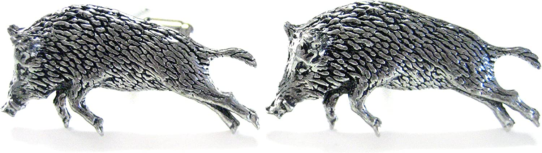 Running Wild Boar Cufflinks