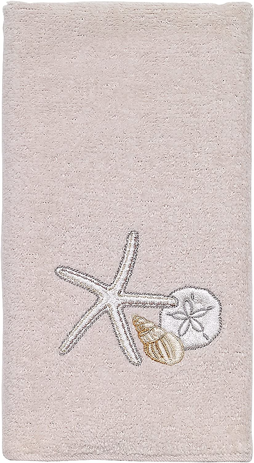 Avanti Linens Seaglass Collection Towel Factory outlet Fingertip 4 years warranty Embroidered
