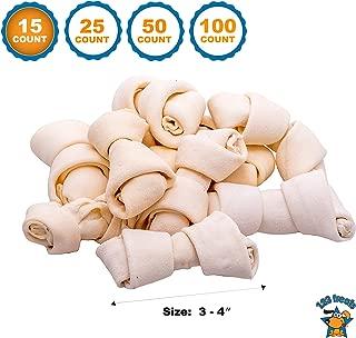 123 Treats | Rawhide Bones Chews 3-4