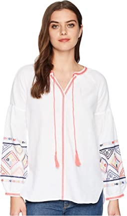 Joules Yolanda Long Sleeve Embroidered Blouse