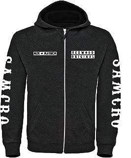 Sudadera con capucha y cierre de cremallera Sons of Anarchy, personalizable, tallas S-3XL Negro negro M
