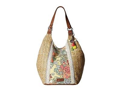 Sakroots Roma Straw Shopper (Sunlight Flower Power) Handbags