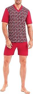 Big Size Pigiami da Uomo Due Pezzi T-Shirt /& Shorts Pantaloni 100/% Cotone Abbigliamento da Notte Grandi Dimensioni 3-6XL