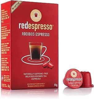 Rooibos Tea - Red Espresso - Original Rooibos Tea Capsules - South African - Nespresso Compatible - 10 Capsules - Vegan, Non GMO, Organic, Antioxidant, Age-Defying (Original)