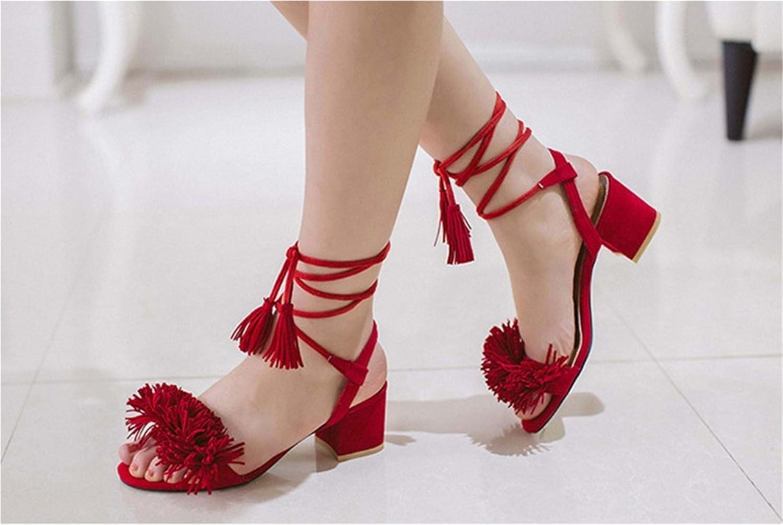 Robert Westbrook Women Suede shoes 35-40 Dress Work Casual Fringe Sandals Gladiator Block Mid Med Heel Pumps