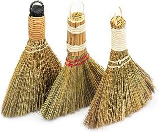 ちりとりを屋内で掃除するためのベトナムのわらの柔らかいほうき-屋外、ソファ、車のフード、装飾品 - わらほうき- 小さなほうき (コンボ)