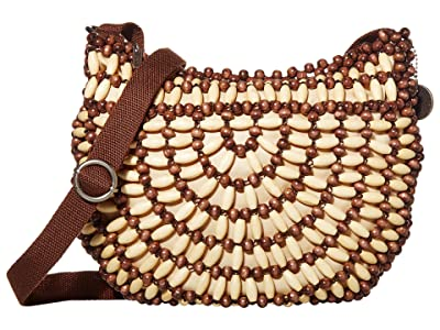 The Sak Ryder Crescent Crossbody (Brown/Natural Beads) Handbags