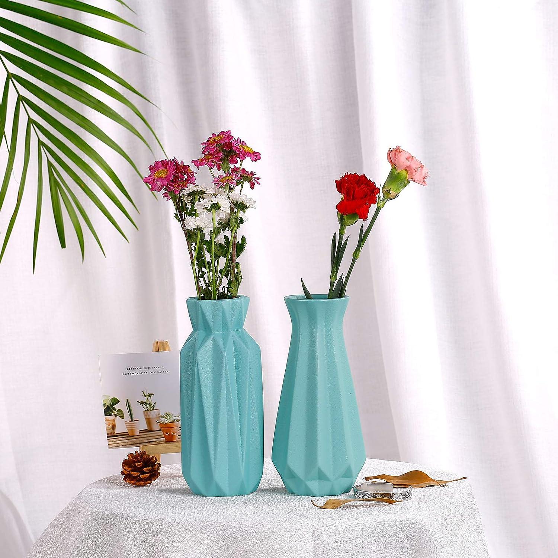 Decoración Del Hogar Florero De Cerámica Moderna De Plantas De Flores Conjunto De 2 Floral Decorativo Florero Para La Sala Centros De Mesa Fanchose Florero De Cerámica Para La Decoración Casera Azul