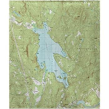 Amazon Com Betsy Drake Branford Harbor Ct Nautical Map Fleece Throw Blanket 60 X 50 Inches Home Kitchen