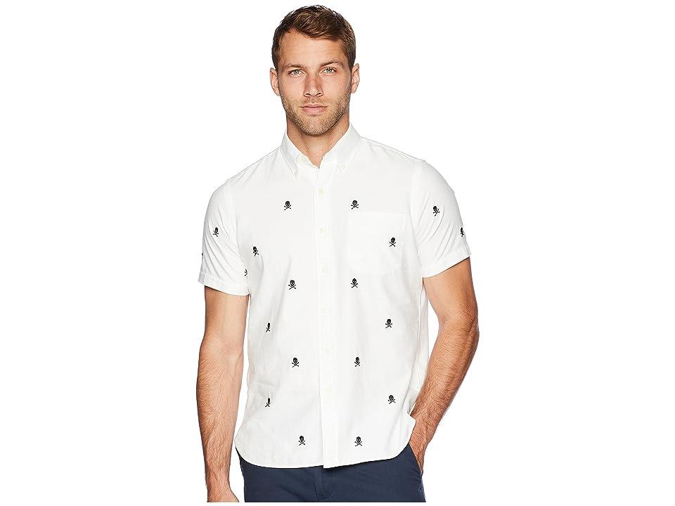 Polo Ralph Lauren Oxford Skull Embroidery Sport Shirt (Skull and Bones) Men
