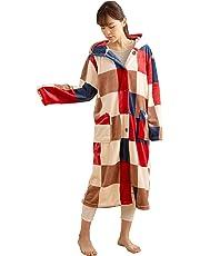 mofua (モフア) 着る毛布 プレミアムマイクロファイバー あったかルームウェア フード付き