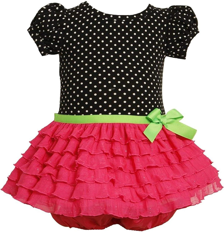 Bonnie Baby Girls' OFFicial Eyelash Inexpensive Dot Dress