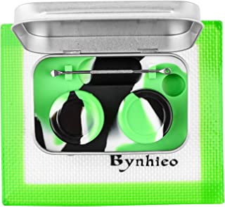 Bynhieo Tin Dab Wax Container Tool Kit +Silicone Mat Pad 5.5 X 4.5 Inch Extra Carrying Case