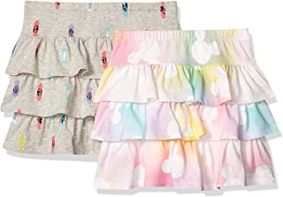 Spotted Zebra Amazon Brand Girl's Disney 2-Pack Knit Ruffle Scooter Skirts