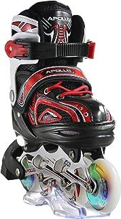comprar comparacion Apollo Super Blades X Pro, tamaño S,M,L, Inline Skates con Ruedas Luminosas LED