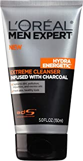 L'Oreal Paris Skincare Men Expert Hydra Energetic Facial Cleanser with Charcoal for..