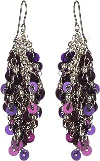 DCA Silver & Blue Sequins Women Earrings (2069)