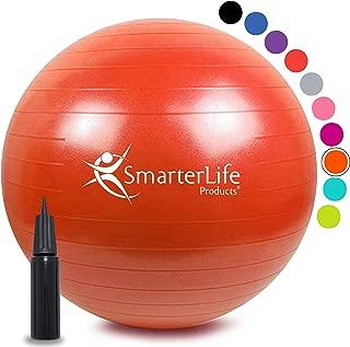 SmarterLife Exercise Ball for Yoga, Balance, Stability – Fitness, Pilates,..
