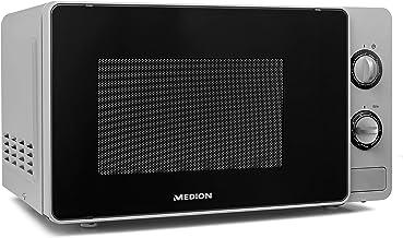 MEDION MD18691 Microondas con grill, 800 W, 20 litros, función de descongelación, blanco