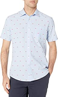 Amazon Essentials Men's Short-Sleeve Regular-Fit Casual Poplin Shirt