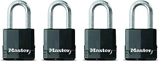 Master Lock Padlock, Magnum Covered Laminated Steel Lock, 1-7/8 in. Wide, M115XQLF (Pack of 4-Keyed Alike)