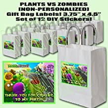 Plants vs Zombies Video Game Party Favors Supplies Decorations Gift Bag Label STICKERS ONLY 3.75