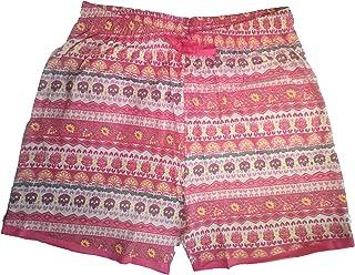 Krystle Women's Printed Cotton Shorts (Colour Pink)