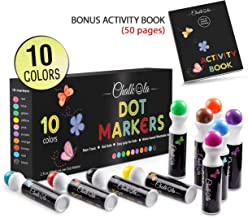 Washable Dot Markers for Kids with Free Activity Book   Large 10 Colors Set   Water-Based Non Toxic Paint Daubers   Dab Marker Kit for Toddlers & Preschoolers   Fun Art Supplies by Chalkola