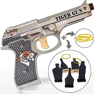 Rubber Band Gun Toy Pistol for Boys | Kids Toy Gun for Indoor Outdoor Games and Pretend Play | Wooden Toy Gun Stress Reliever Toy | Cool Fidget Toy Tiger Gun Elite