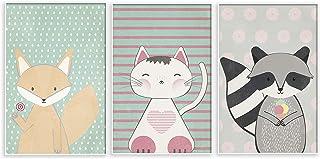 murando Set de 3 Poster Tableaux Impression Artistique Poster Encadré Tableaux Murale Galerie Moderne Décoration Image Gra...