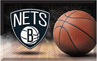 """FANMATS 19096 Team Color 19"""" x 30"""" Brooklyn Nets Sc Mat (NBA Ball)"""