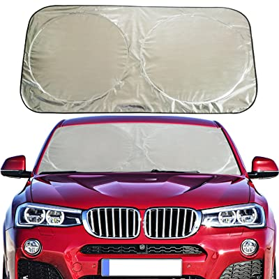 Flyday Auto Car Sun Shade Foldable Windshield -...