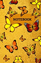 YELLOW BUTTERFLY NOTEBOOK:: A Beautiful Journal/ Notebook/ 121 Blank Lined Pages/ 6 x 9 / Backpack Size / Softcover with M...