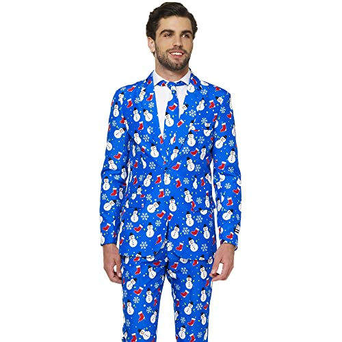 7d902055f64cd Suitmeister Christmas Suits for Men in Different Prints – Ugly Xmas Sweater  Costumes Include Jacket Pants