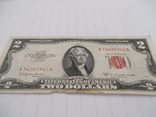 1953-C Red Letter 2 Dollar Bill