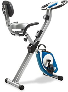 XTERRA Fitness FB350 Folding Exercise Bike, Silver (Renewed)