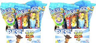 PEZ Toy Story 4 Candy Dispensers Individually Wrapped PEZ Candy and Dispensers with Tru Inertia Kazoo 24 Pack
