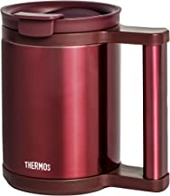 Thermos Stainless Steel Mug with Handle, Red, 280ml