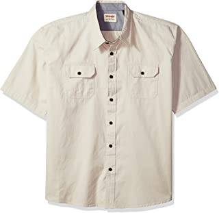 Authentics Men's Short Sleeve Classic Woven Shirt