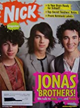Nickelodeon [Nick] Magazine, Sept. 2008, Issue 145, JONAS BROTHERS! [single issue magazine] (Keeping up with the Jonases: we talk to Nick, Joe, and Kevin Jonas, Issue 145)
