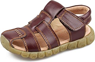 Boy's Leather Closed Toe Outdoor Sport Sandal (Toddler/Little Kid)