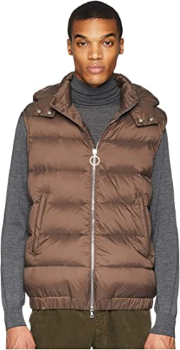 Nylon Quilted Vest w/ Hood