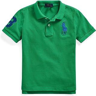 Polo Ralph Lauren Boy`s Classic Fit Mesh Polo Shirt, Green(610482)/Blue, Large