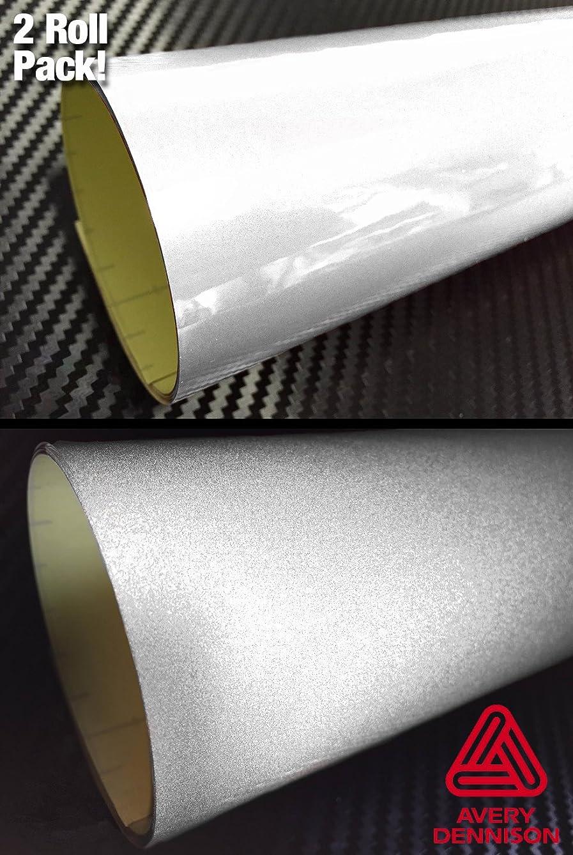 Avery Hi-Energy Silver White Reflective Craft Vinyl 12