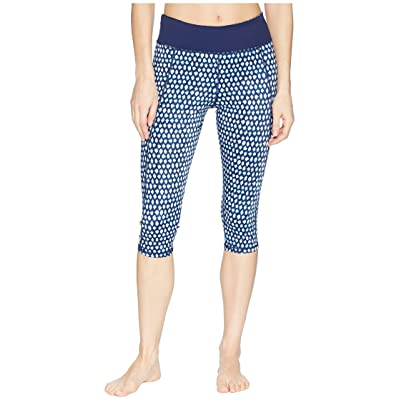 Tommy Bahama Active Patchwork Reversible Capri Leggings Cover-Up (Mare Navy) Women